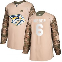 Nashville Predators Youth Shea Weber Adidas Authentic Camo Veterans Day Practice Jersey