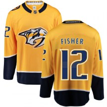 Nashville Predators Youth Mike Fisher Fanatics Branded Breakaway Yellow Home Jersey