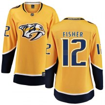 Nashville Predators Women's Mike Fisher Fanatics Branded Breakaway Yellow Home Jersey