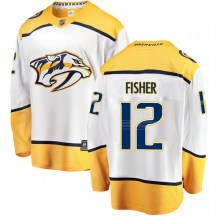 Nashville Predators Youth Mike Fisher Fanatics Branded Breakaway White Away Jersey