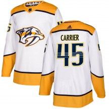 Nashville Predators Youth Alexandre Carrier Adidas Authentic White Away Jersey