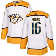 Nashville Predators Youth Rem Pitlick Adidas Authentic White Away Jersey