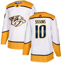 Nashville Predators Youth Colton Sissons Adidas Authentic White Away Jersey