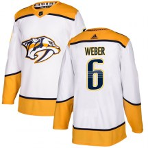 Nashville Predators Youth Shea Weber Adidas Authentic White Away Jersey